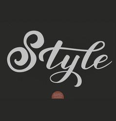 hand drawn lettering - style elegant modern vector image