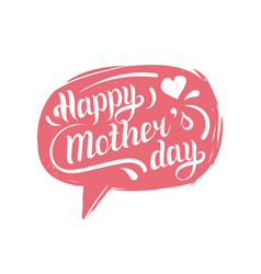 Hand lettering typography poster happy mothers day vector