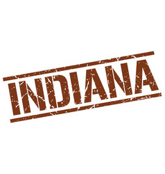 Indiana brown square stamp vector
