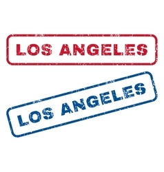 Los angeles rubber stamps vector