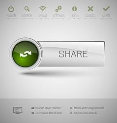 Modern plastic button vector image