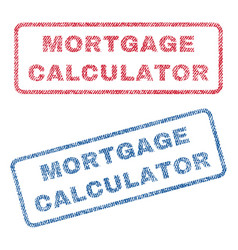 Mortgage calculator textile stamps vector