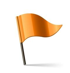 orange flag vector image vector image