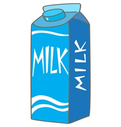 Packaging milk vector