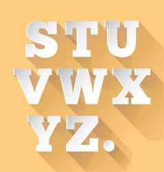 Paper alphabet s-z vector