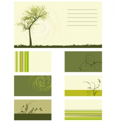plant design elements vector image vector image