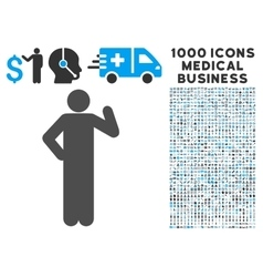 Proposal pose icon with 1000 medical business vector