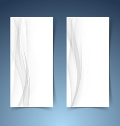 Smooth abstract swoosh wave hi-tech banner layout vector image