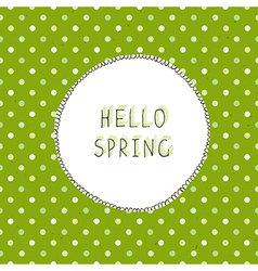 spring green vector image vector image