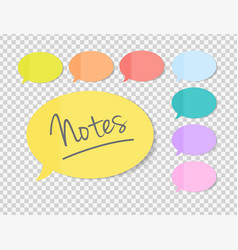 sticky office paper sheets notes speech bubble vector image vector image