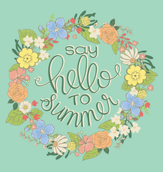 Summer logo design for banner poster cover vector