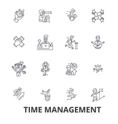 time management clock timeline planning vector image vector image
