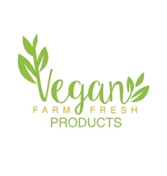 Vegan Natural Food Green Logo Design Calligraphic vector image vector image