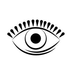 Eye look vision optcal icon graphic vector