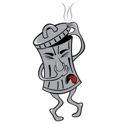 Garbage can vector image