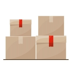 Isolated delivery package design vector