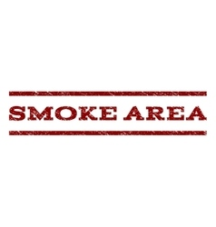 Smoke Area Watermark Stamp vector image