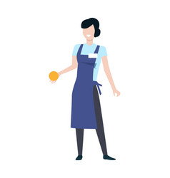 shop assistant woman character vector image