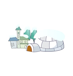 An igloo vector