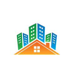 Buildings real estate logo image vector