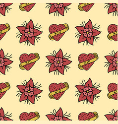 Seamless beautiful pattern with summer flowers vector