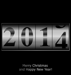 New Year counter in silver vector image