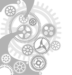 Gear and cogwheel background vector