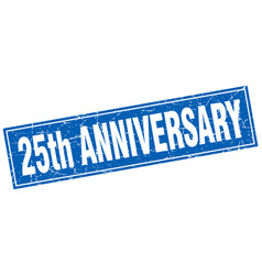 25th anniversary square stamp vector