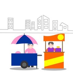 Food kiosk vector