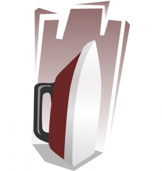 iron box vector image