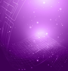 Abstract technology violet background vector