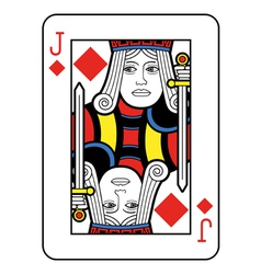 Jack of Diamonds vector image
