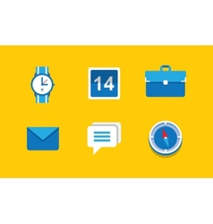 Set of flat icons vector image
