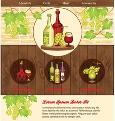 Beverage background for web template vector