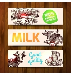 Milk product sketch vector