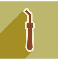 Icon of dental instrument in flat style vector
