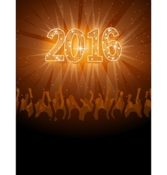 2016 happy new year disco flyer vector