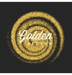 Gold glitter sparkles bright confetti black vector