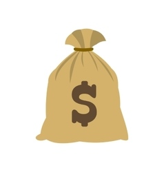 Money bag with us dollar sign icon vector