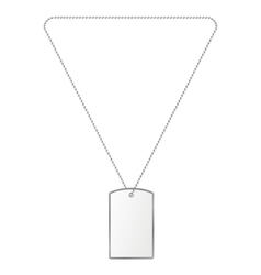 silver tiles on the chain vector image