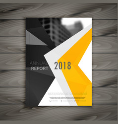 abstract business brochure template annual report vector image vector image
