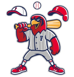 Baseball falcon mascot vector