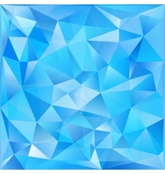 Blue glass triangles abstract background vector