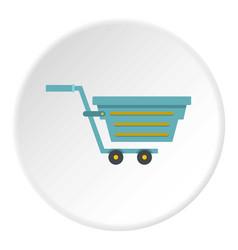 Blue shopping cart icon circle vector