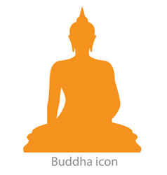 Buddha icon orange color vector