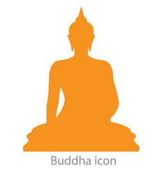 buddha icon orange color vector image