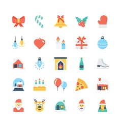 Christmas colored icons 1 vector
