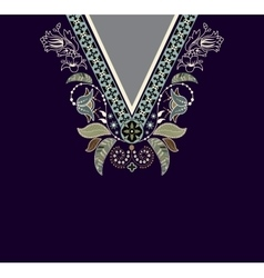 Colorful ethnic flowers neck Paisley decorative vector image vector image