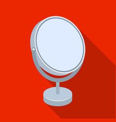 Desk mirrorbarbershop single icon in flat style vector