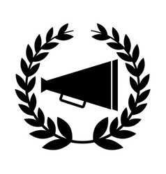 Director cinema megaphone icon vector